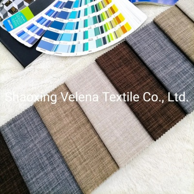 280CM 100%Polyester Linen Type Home Textile Fabric for Sofa Curtain