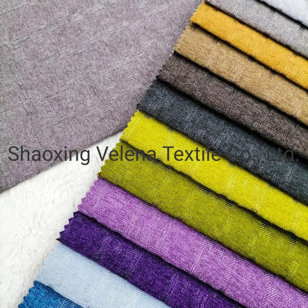 Woven Polyester Linen Type Upholstery Home Textile Fabric for Sofa
