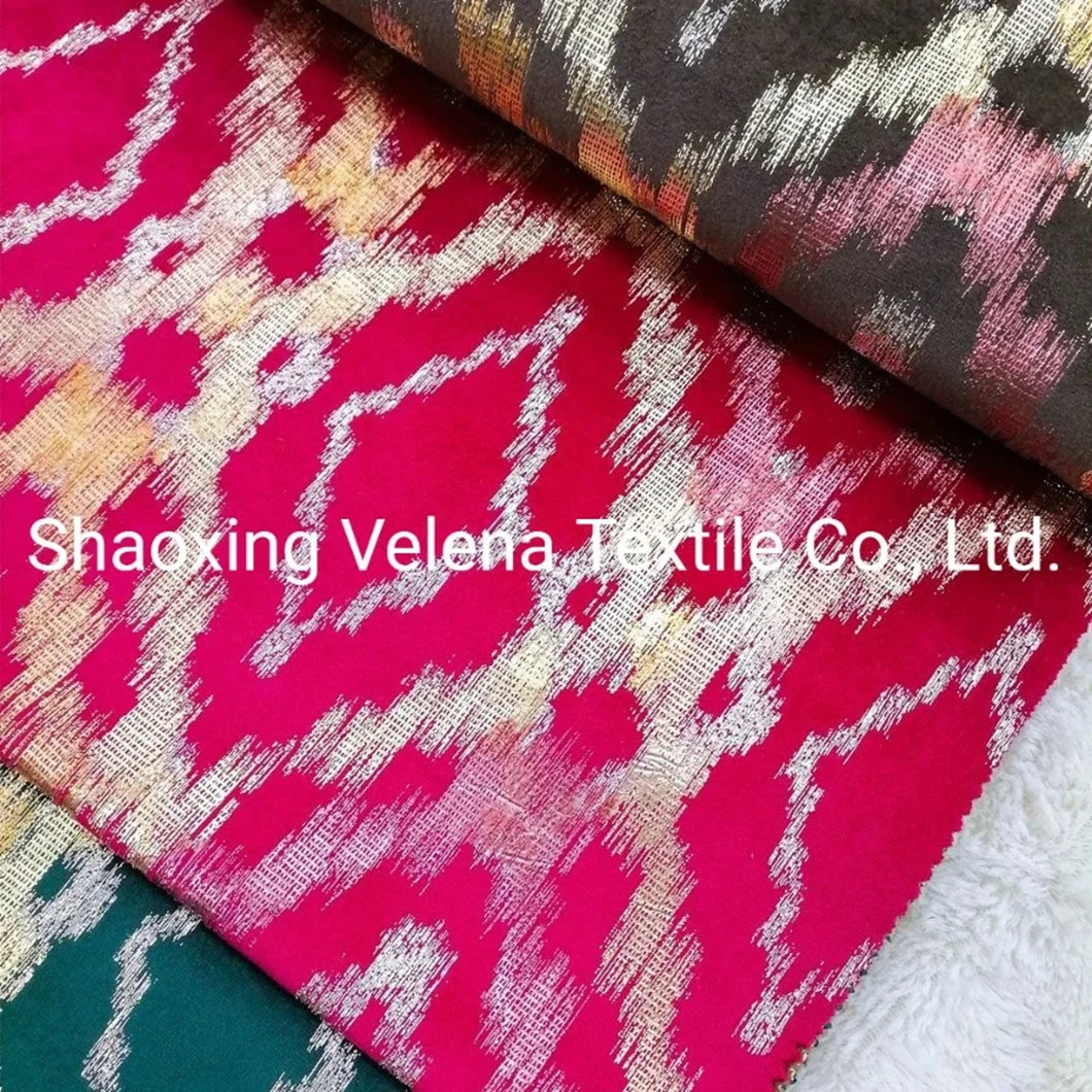 Factory Supply Holland Velvet Dyeing with Digital Foil Upholstery Fabric for Sofa