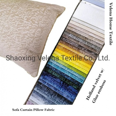 New Arrival Polyester Velvet with Glue Embossed Home Textile Fabric