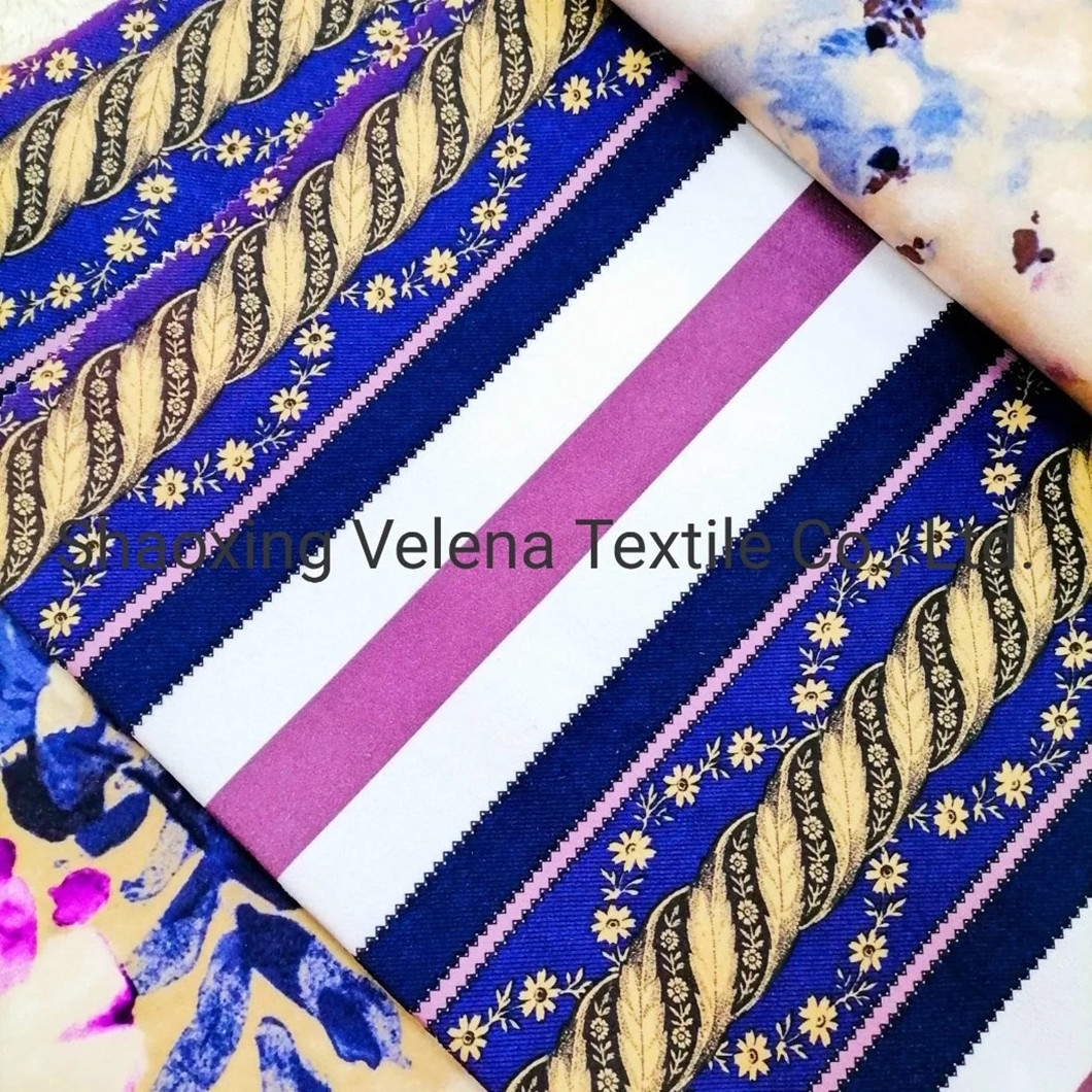 100% Polyester Fudan FDY Venisia Velvet with Printed Sofa Furniture Upholstery Fabric
