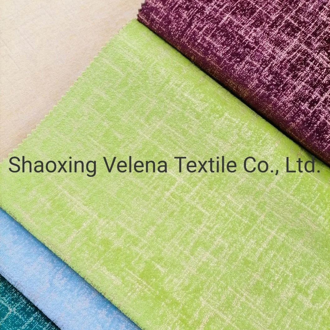 Hot Sell Upholstery Velvet Fabric Dyeing with Foil for Sofa Curtain