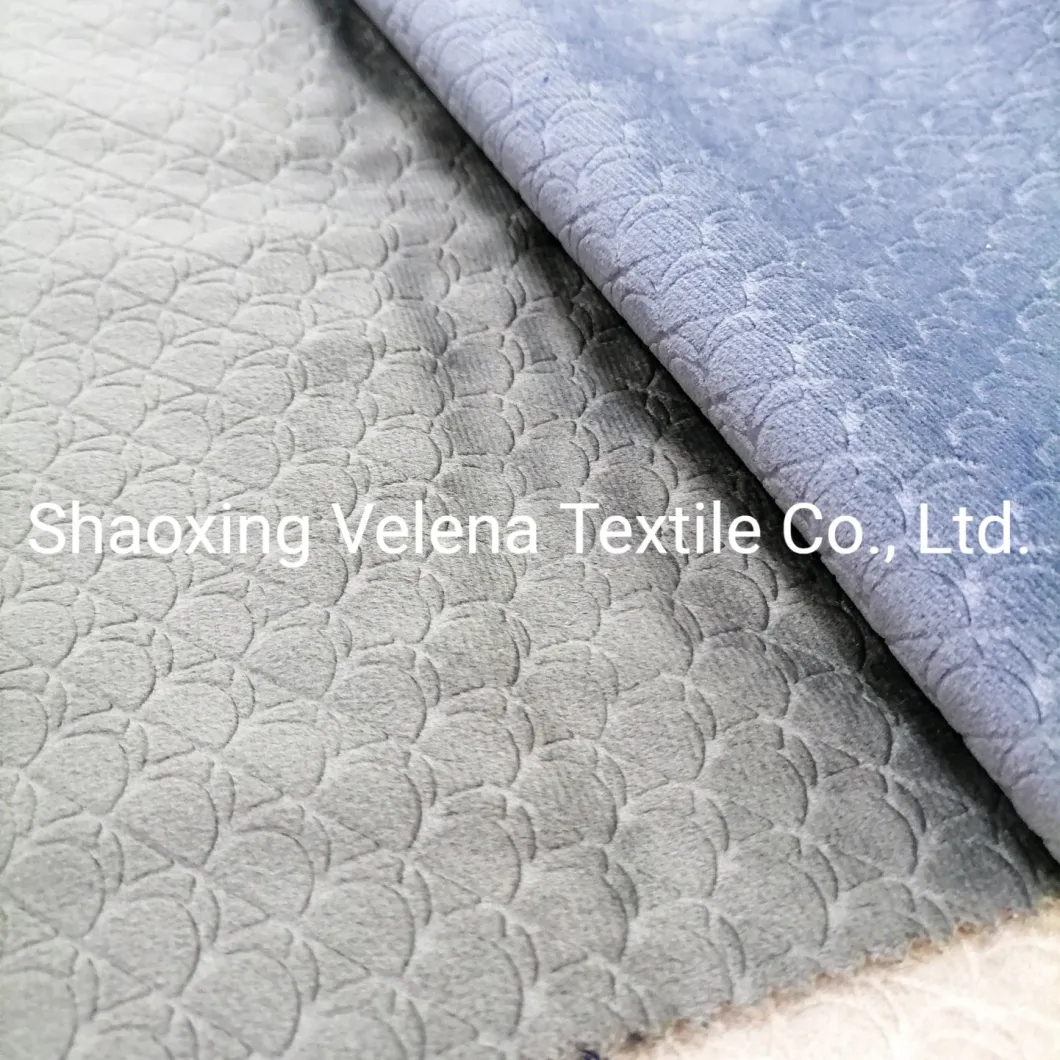 New Arrival Sofa Fabric Holland Velvet Dyeing with Emboss Home Textile Fabric