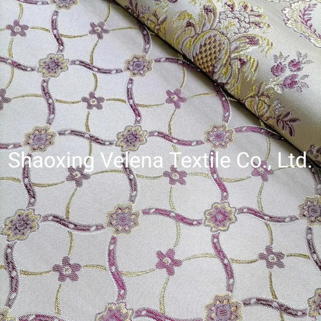 Polyester Belgiki Jacquard Home Textile Fabric for Sofa Curtain Cushion