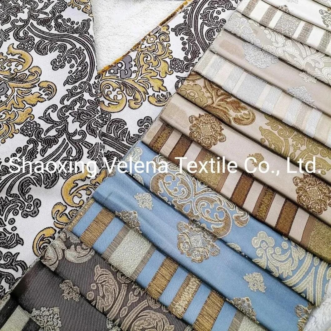 100%Polyester Belgiki Jacquard Upholstery Home Textile Fabric Curtains Textile Sofa Fabric
