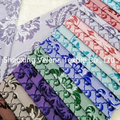 Polyester Velvet Jacquard Warp Knitting Home Textile Fabric Upholstery Fabric