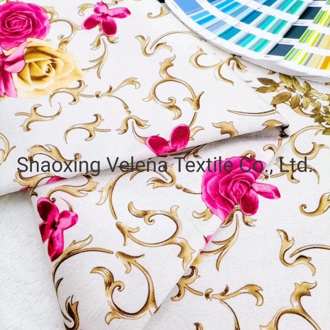 New Arrival FDY Venisia Velvet Printed Furniture Sofa Uphosltery Fabric