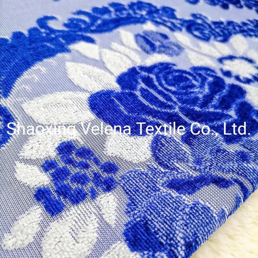 Fashion Design Jacquard Velvet Fabric Upholstery Fabric Home Textile Fabric