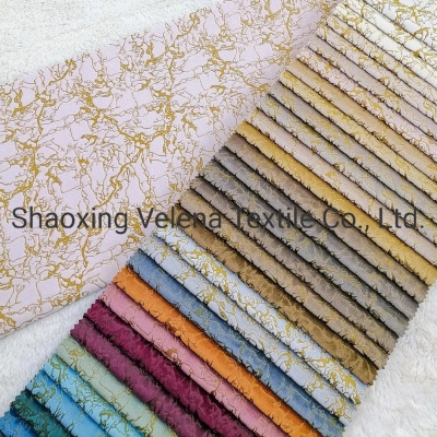 Polyester Knitted Holland Velvet Dyeing Glue Emboss Home Textile Fabric Sofa Fabric