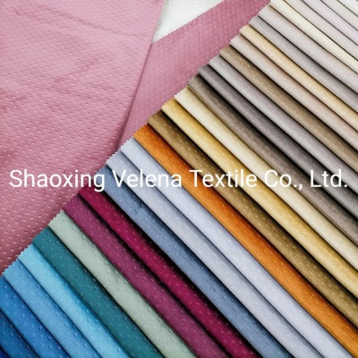 Polyester Holland Velvet Sofa Fabric Dyeing with Emboss Home Textile Fabric