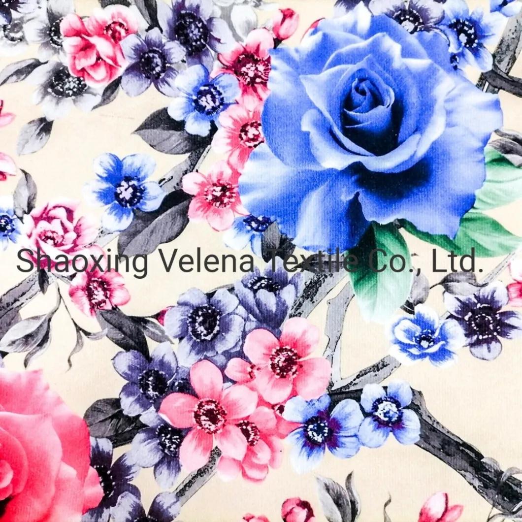 Vinisia Velvet Fabric Printing Textile Fabric Upholstery Furniture Sofa Fabric