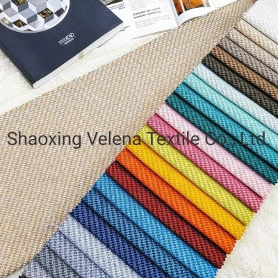 Various Colours Polyester Linen Type Upholstery Sofa Fabric on Sale