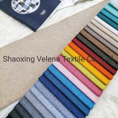 Factory Supply Polyester Linen Type Fabric Home Textile Upholstery Fabric