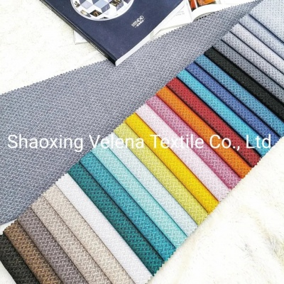 Fashion Design Polyester Linen Type Upholstery Fabric for Sofa