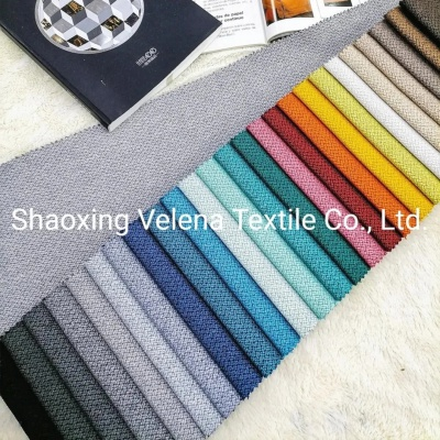 Hot Sell Polyester Linen Type Home Textile Fabric Sofa Fabric