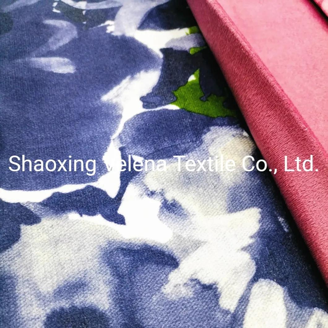 Polyester Holland Jaguar Velvet Fabric New Design Printing Upholstery Sofa Fabric