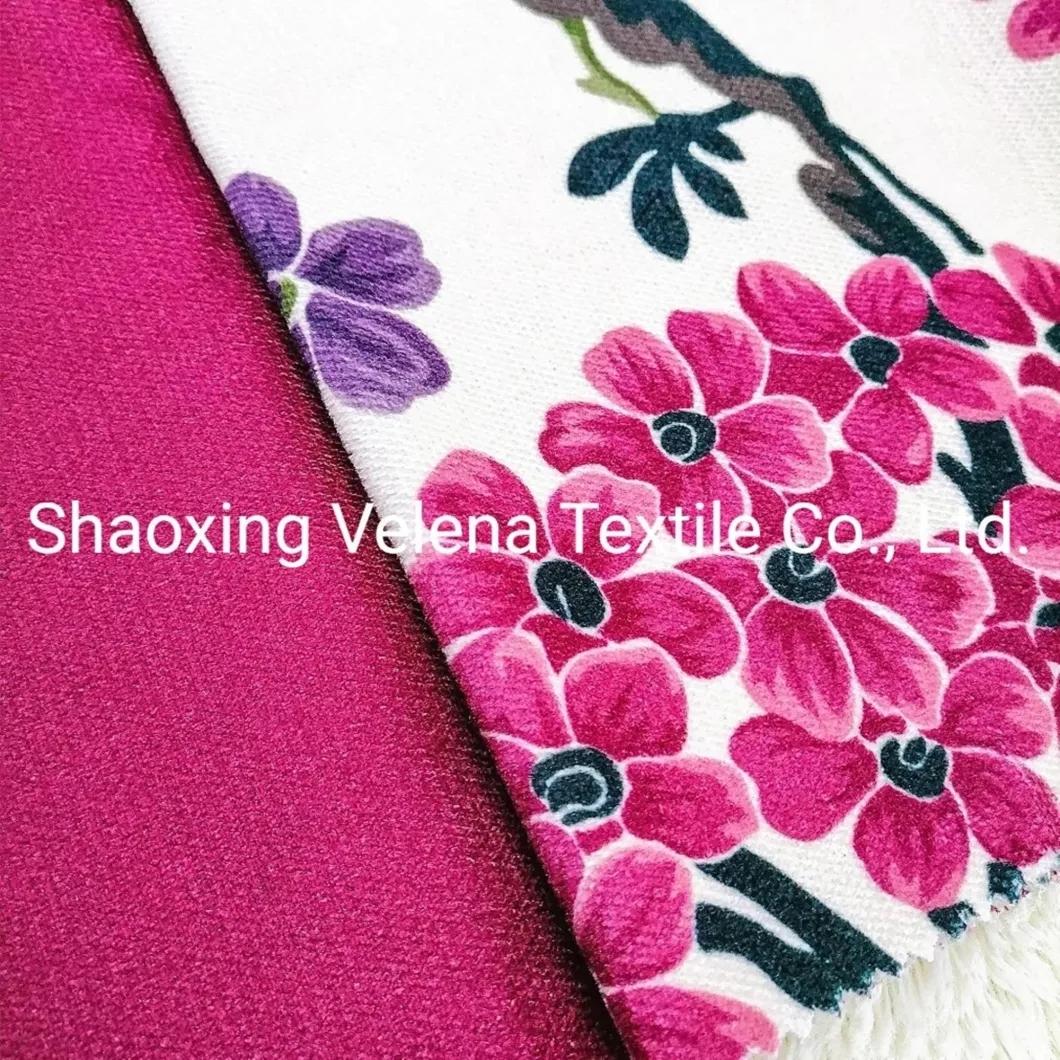 Polyester Jaguar Velvet Fabric Printed Upholstery Fabric Sofa Fabric