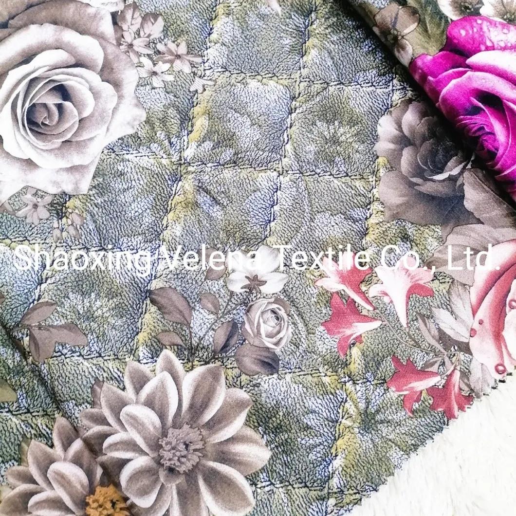 High Quality Polyester Velvet Upholstery Fabric Printing Sofa Fabric