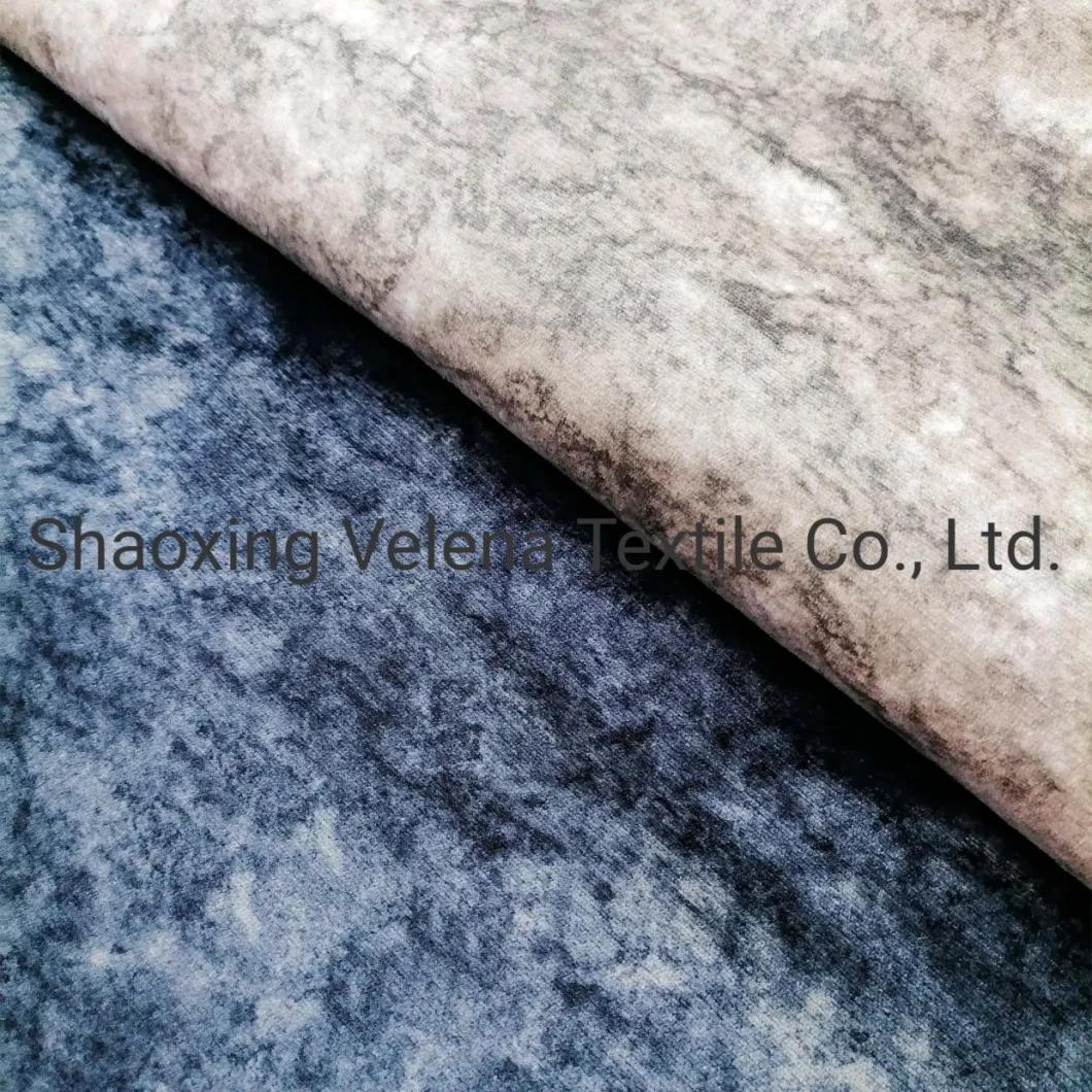 100%Polyester Holland Velvet Fabrics Printing Warp Knitting Upholstery Sofa Fabric