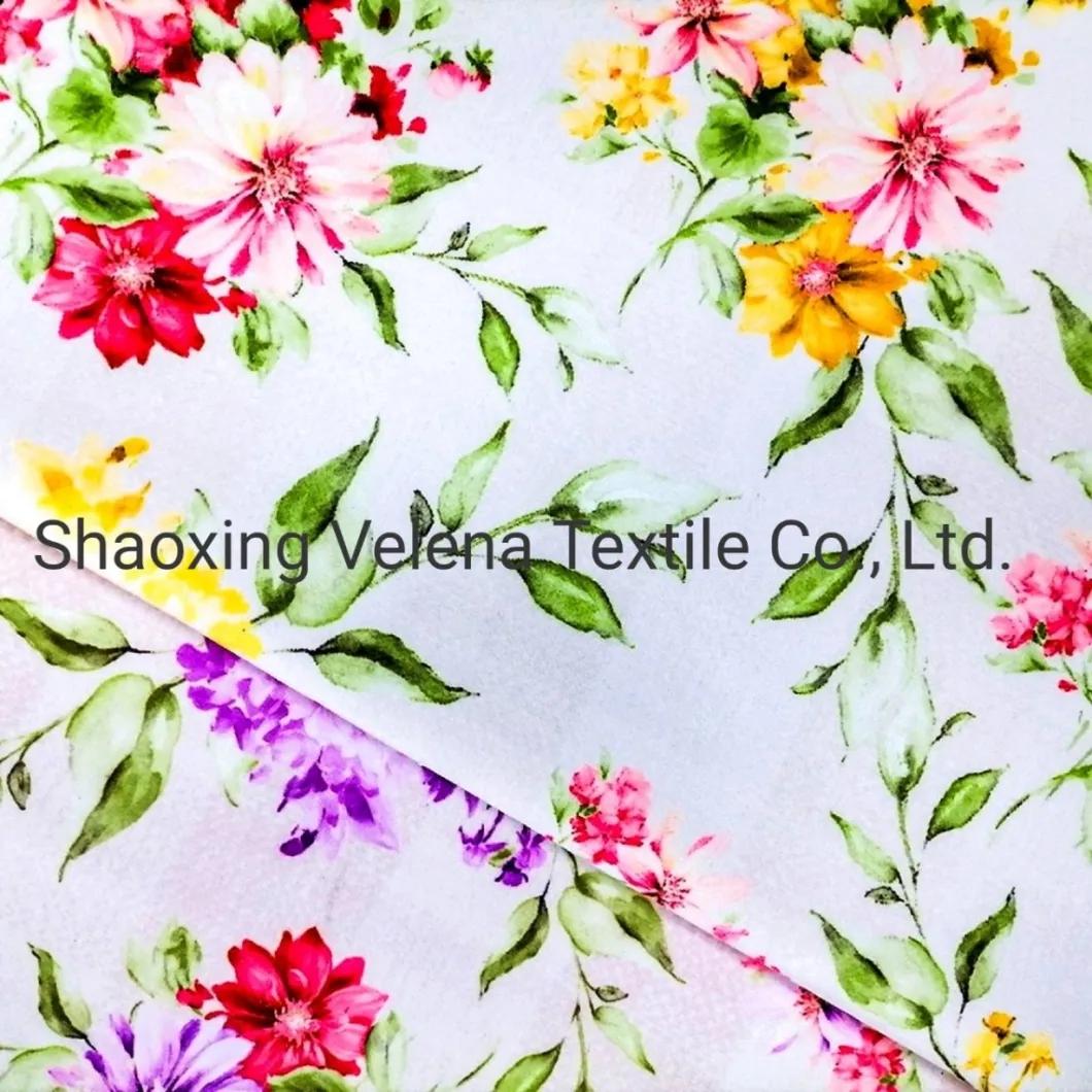 Soft Fudan Vinice FDY Velvet Flower Printing Upholstery Furniture Fabric for Sofa