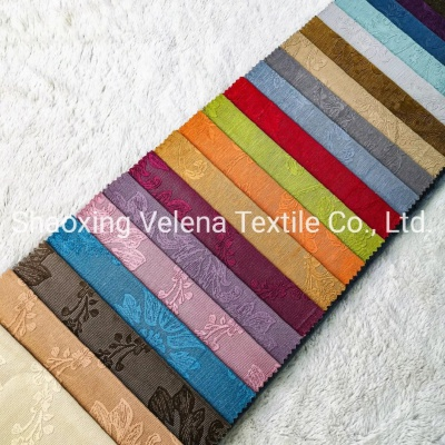 Polyester Holland Velvet with Electric Embossed Upholstery Furniture Fabric for Sofa