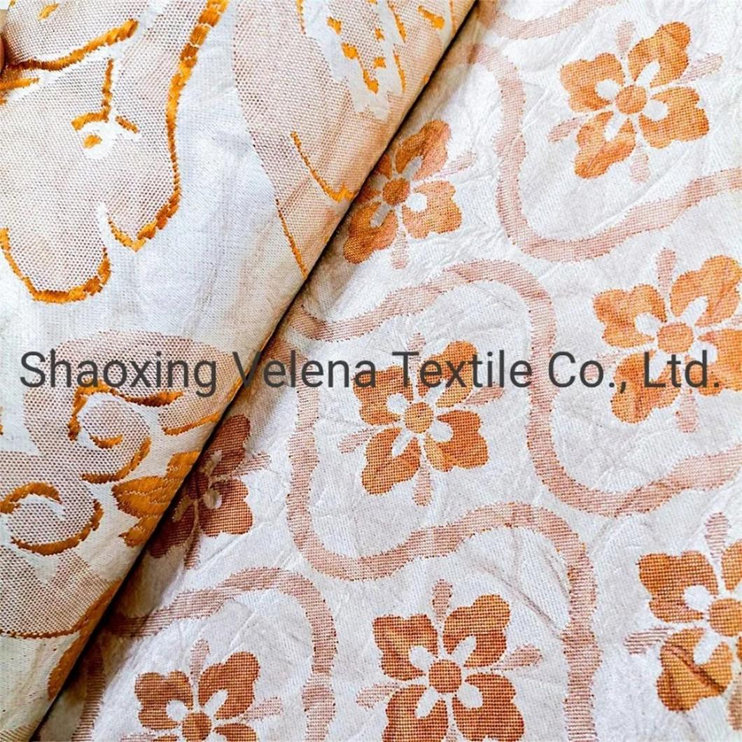 Hot Sale Polyeser Linen Jacquard Damask Upholstery Fabric for Sofa Curtain Cushion
