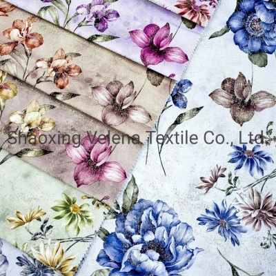 Polyester Velvet Fabric Digital Printing Home Textile Upolester Furniture Fabric