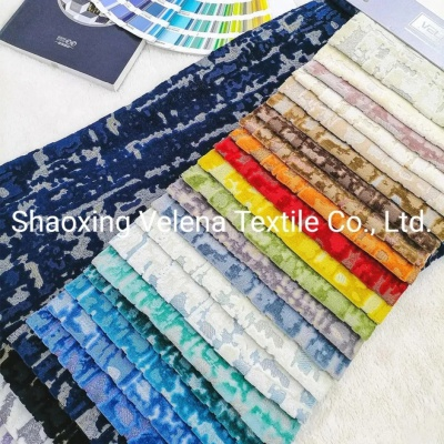 High Quality Polyester Velvet Fabric Woven Jacquard Home Textile Fabric