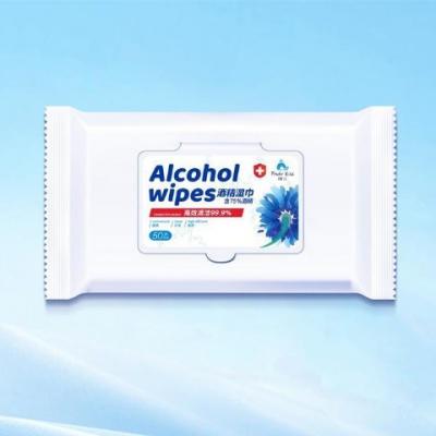 MSDS 75% Alcohol Wipes 50pcs/bag