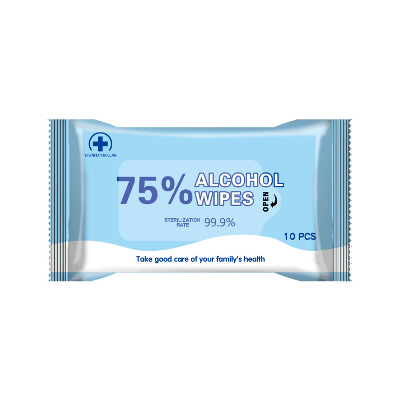 CE FDA 75% Alcohol Wipes 10pcs/bag