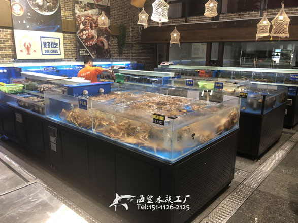 武汉海鲜酒楼餐厅海鲜鱼池组