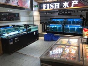 大型连锁超市商超专用海鲜鱼池设备