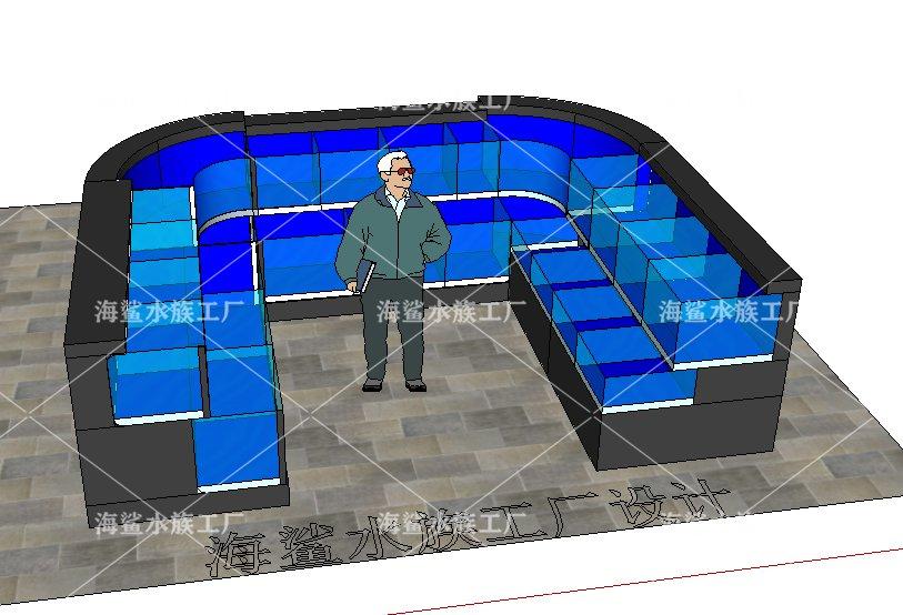 黄冈社区生鲜超市 可移动水产海鲜鱼池 设计原稿