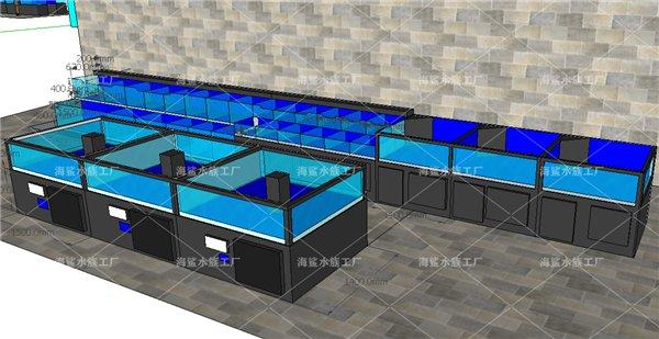 黄石商超黄石专用海鲜鱼池设计原稿 一体化可移动