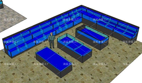 宜昌定做超市海鲜鱼池合 可移动 设计原稿 专业定制