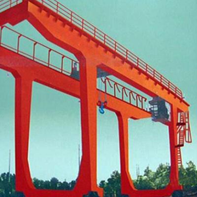 5-50/10 tons double beam hook gantry crane