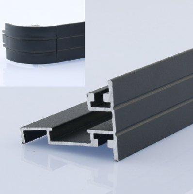 30mm双面圆角磁吸型材1