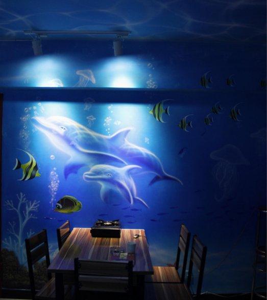 探寻蔚蓝世界的神秘——海洋主题墙绘