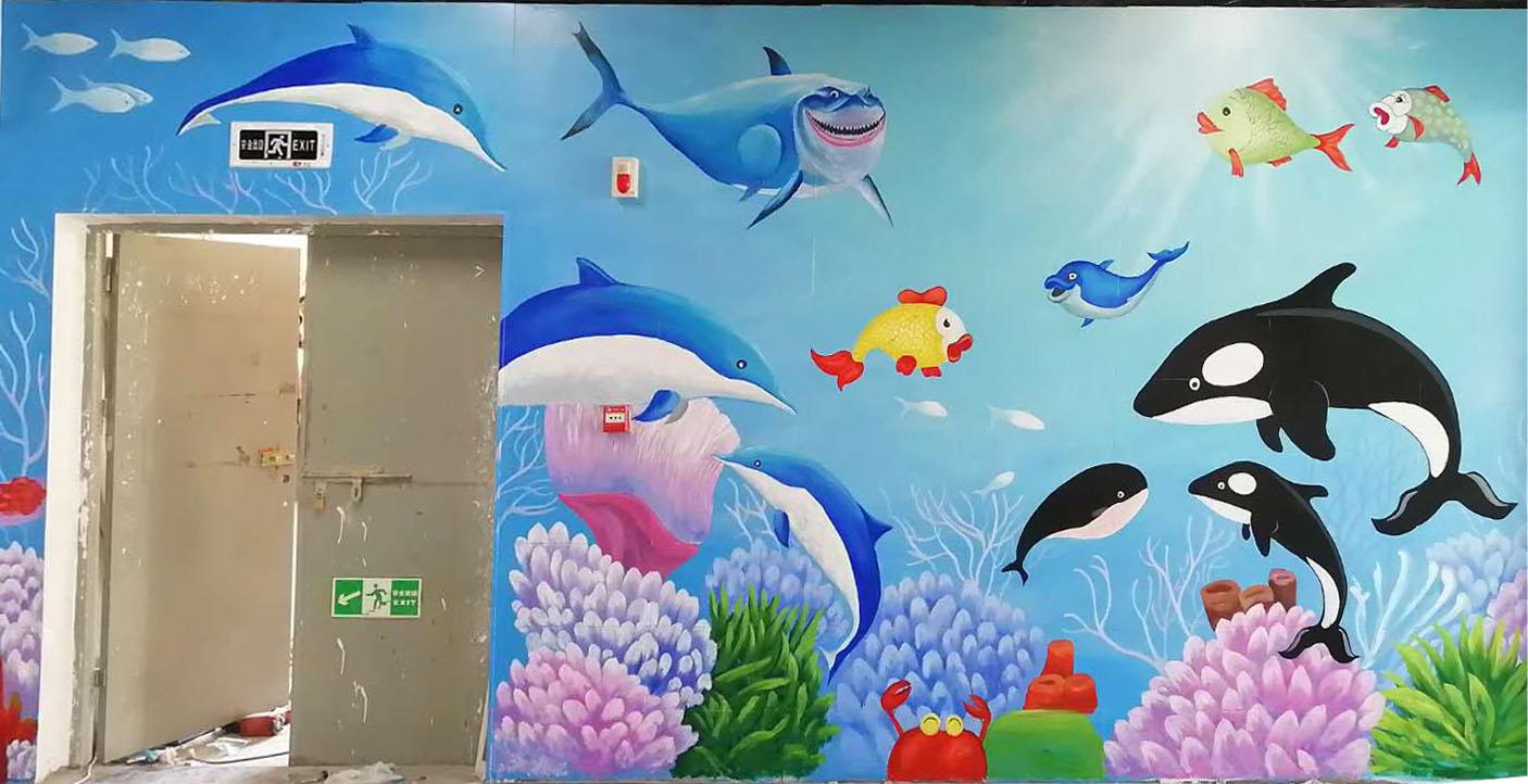 武汉墙绘公司项目之邓甲生鲜市场