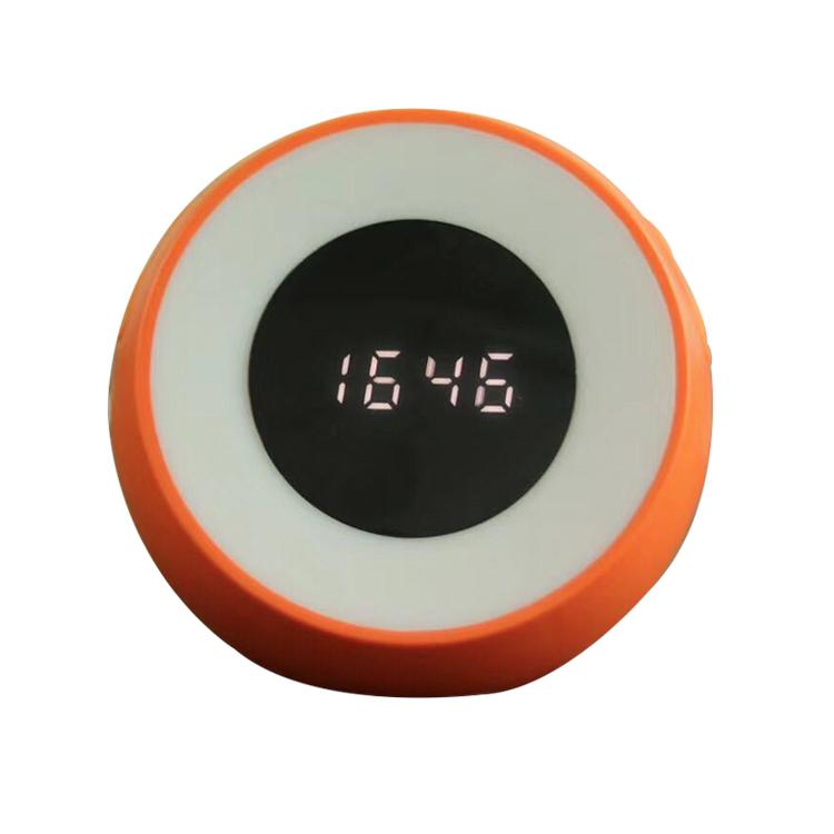 alarm clock round bluetooth speaker, 1200mAh, natural sound, air purification