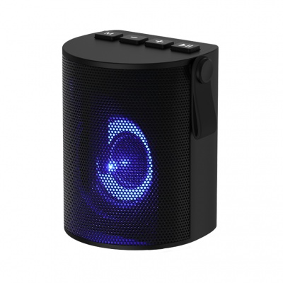 Bluetooth speaker with Colorful lights, with leather carry rope