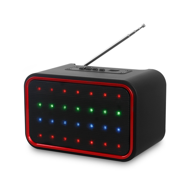 Led lamp with antenna bluetooth speaker