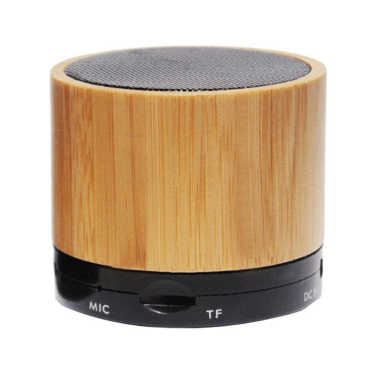 Flashing light portable bluetooth speaker bamboo