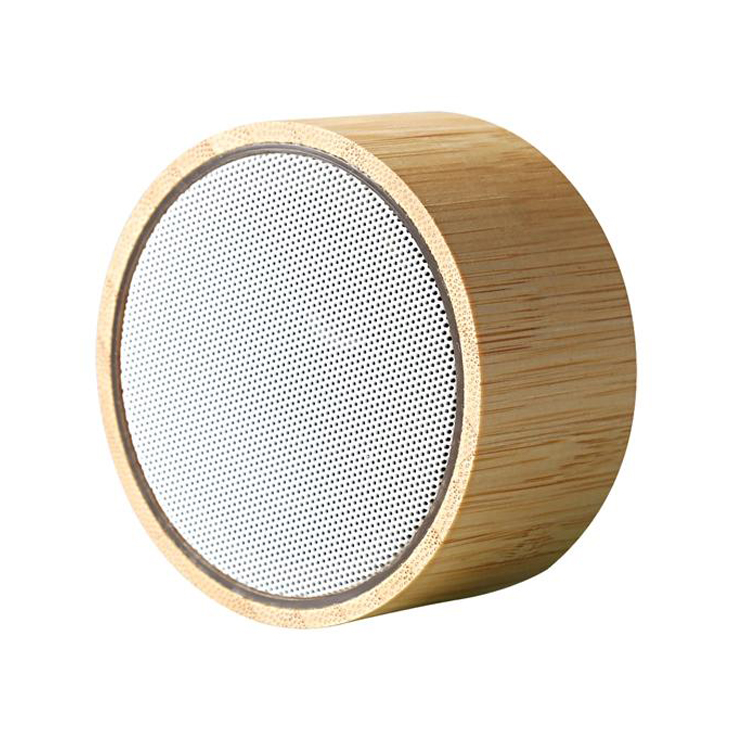 Flashing light bluetooth speaker with bamboo