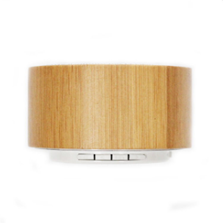 Flashing light bluetooth speaker with bamboo