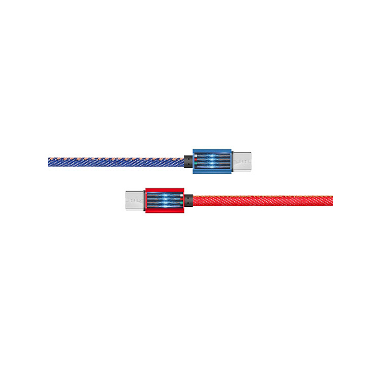 Denim Texture Data Charging Cable C-DC116