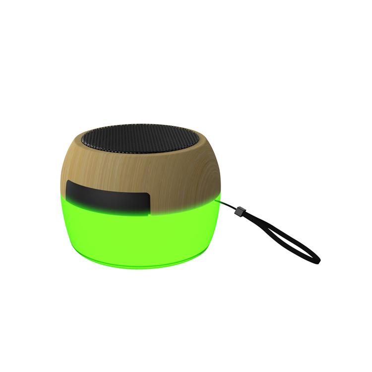 BT006 Wood Grain Lighting Bluetooth Speaker