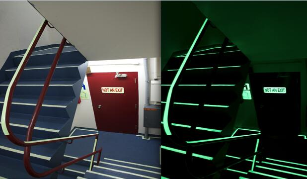photoluminescent film evacuation system