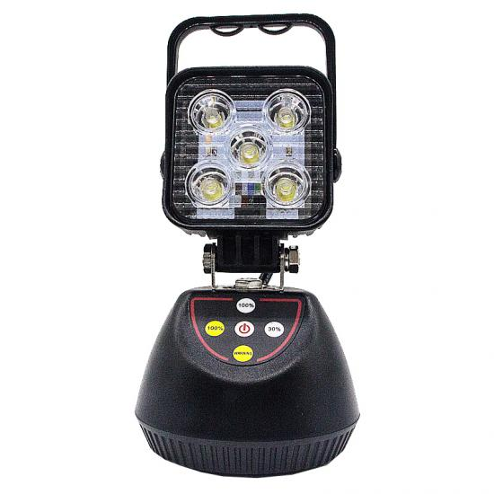 15W Portable LED Work Light With Amber Warning