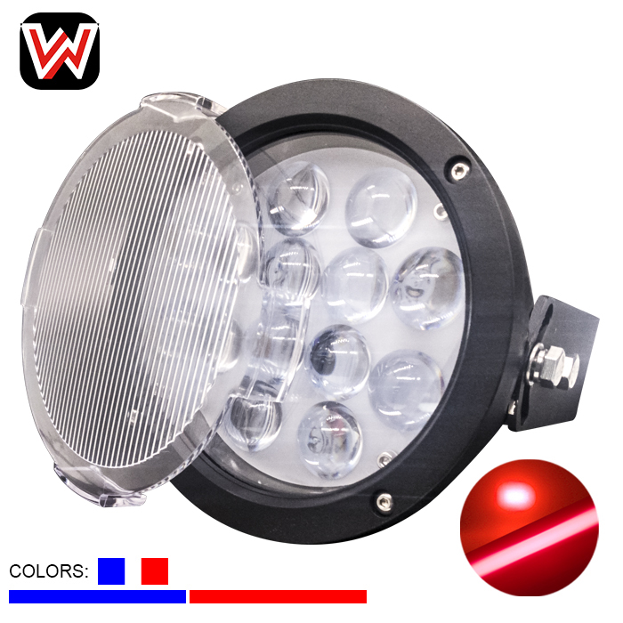 high power round 60w spot or line red blue color Overhead Crane Safety Warning light